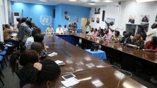 Une conférence de presse de la Monusco en RDC. (Image d'illutsration)