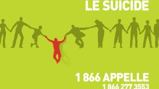 «Ensemble on peut prévenir le suicide», une affiche de l'association québécoise de prévention du suicide.