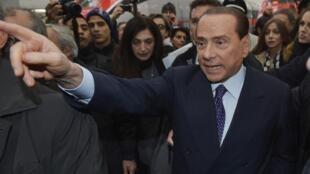 Silvio Berlusconi, le 29 décembre à Milan.