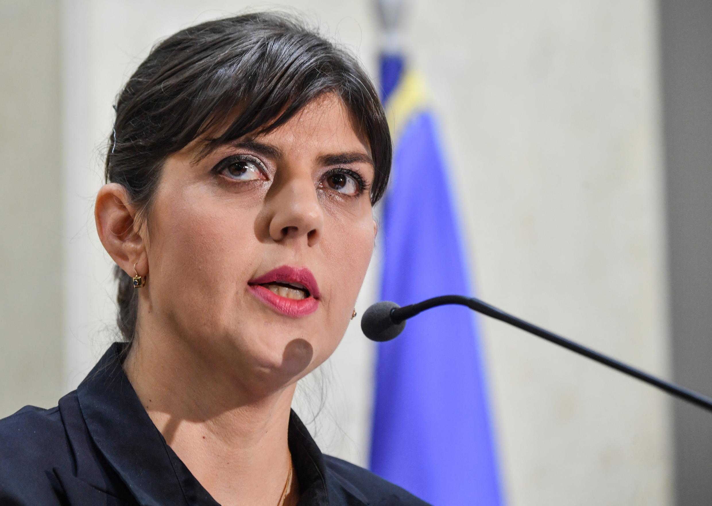 Laura Codrusta Kovesi, l'ex-cheffe du parquet anticorruption roumain, en février 2018.