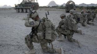 美军第一兵团士兵在阿富汗