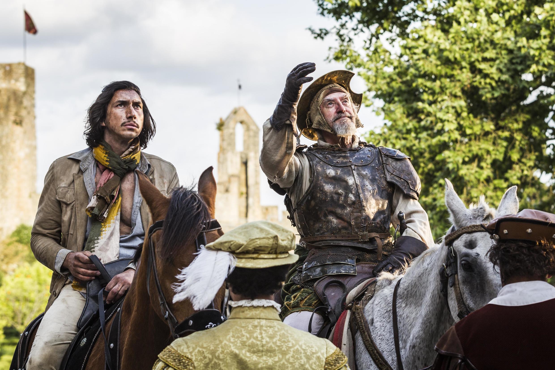 Adam Driver e Jonathan Pryce no filme The Man Who Killed Don Quixote, que vai encerrar o Festival de Cannes.