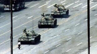 'El hombre del tanque', foto del 5 de junio de 1989.