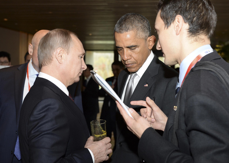 Владимир Путин и Барак Обама на саммите АТЭС в Пекине, 11 ноября 2014 г.