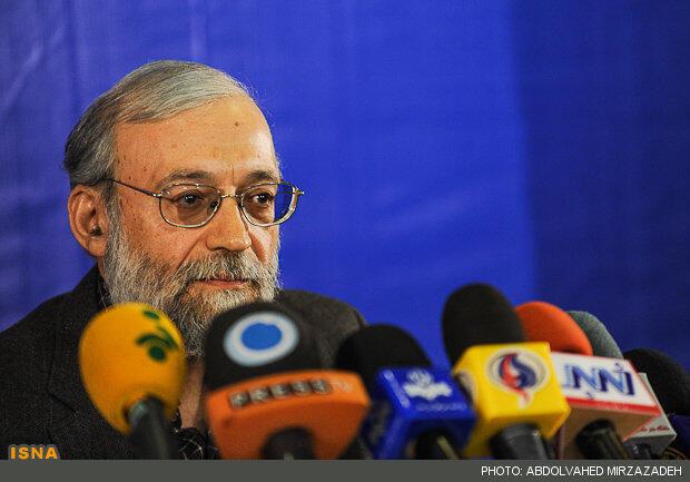محمد جواد لاریجانی در مصاحبه مطبوعاتی امروز با رسانههای داخلی و خارجی. ٧ آذر/ ٢٧ نوامبر ٢٠١٢