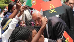 Presidente português, Marcelo Rebelo de Sousa, à chegada ao Lubango. 07 de Março de 2019.