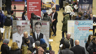 La foire à l'emploi réservée aux réfugiés, à Berlin en Allemagne, le 29 février 2016.