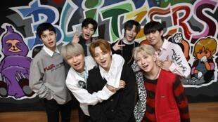 Les membres du nouveau groupe K-pop Blitzers, lors d'une session de répétitions, le 29 avril 2021.
