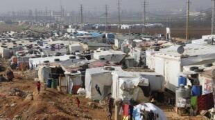 Camp de réfugiés syriens au Liban, le 18 novembre 2014.