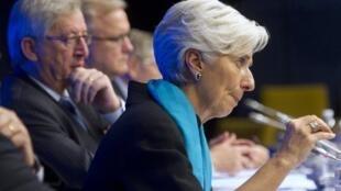 Christine Lagarde, la directora gerente del FMI.