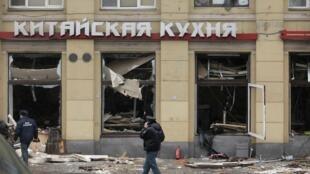 """Ресторан """"Харбин"""" после взрыва 02/03/2012"""