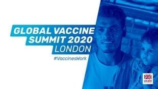 Reino Unido organiza cúpula virtual para angariar fundos para a Vaccine Alliance (GAVI), nesta quinta-feira (4).