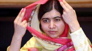 Malala Yousafzai, en Islamabad, Pakistán, durante una entrevista a la prensa el 30 de marzo, antes de visitar el valle del Swat.
