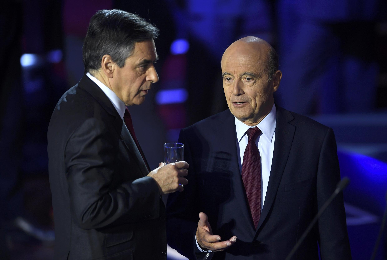 François Fillon e Alain Juppé, disputam este domingo, 28 de novembro nas urnas , o lugar de candidato da direita às presidenciais em França