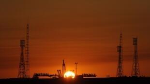 Rampa de lançamento em Baikonur, no Cazaquistão (imagem de ilustração)