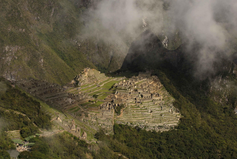 Vue aérienne de la citadelle inca de Machu Picchu (image d'illustration).