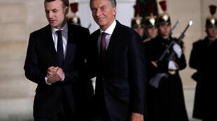 Le président français Emmanuel Macron s'est dit confiant qu'un accord commercial entre l'Union européenne et le marché commun sud-américain Mercosur. le 26.01.2018
