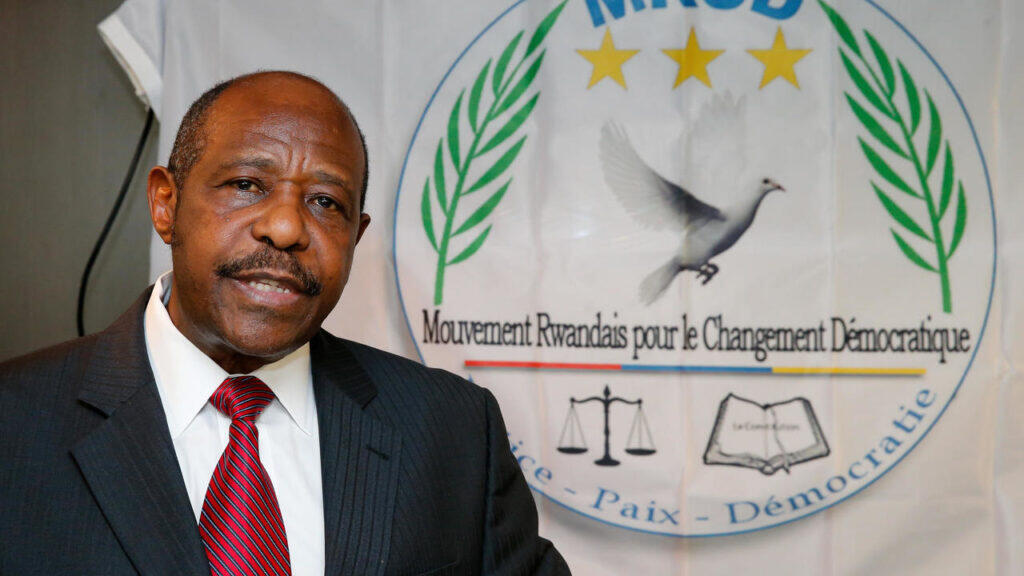 A June, 2019 file photo of Paul Rusesabagina in Brussels during a conference on Rwanda.