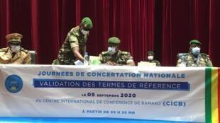 Ouverture des concertations nationales sur la transition politique au Mali, ce samedi 5 septembre 2020.