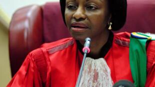 La président de la Cour constitutionnelle gabonaise, Marie-Madeleine Mborantsuo (photo d'archives).