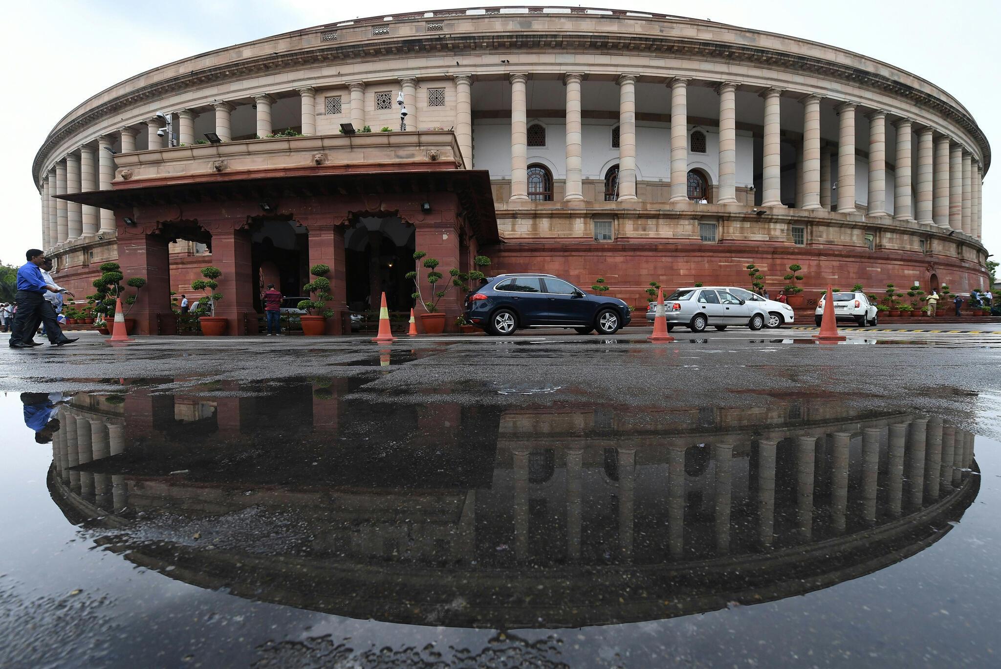 Vue du parlement indien, à New Delhi, en juillet 2018.
