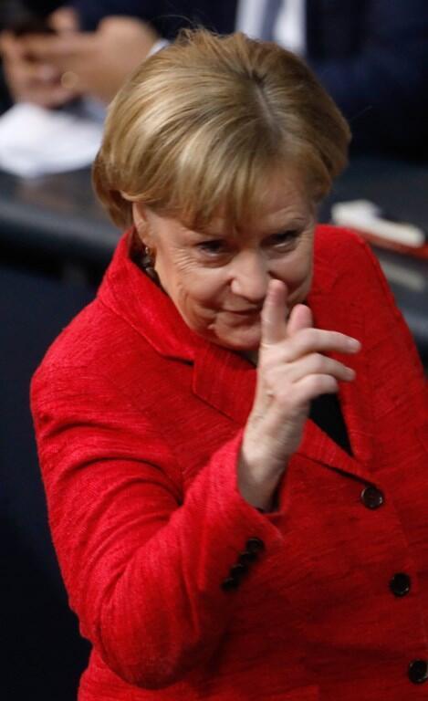 Angela Merkel no Bundestag. 21 de Novembro de 2017.