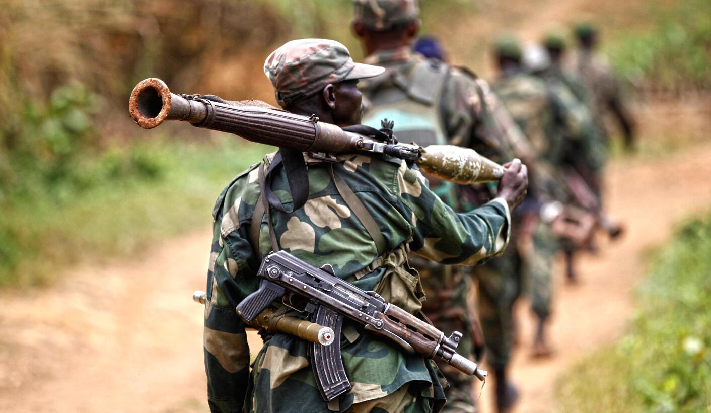 Wanajeshi wa nchi ya Jamuhuri ya Kidemokrasia ya Kongo.