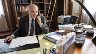 Didier Migaud, Premier Président de la Cour des Comptes. Photo prise le 14 avril 2010.