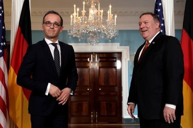 مایک پمپئو و هایکو ماس وزرای امور خارجۀ آمریکا و آلمان