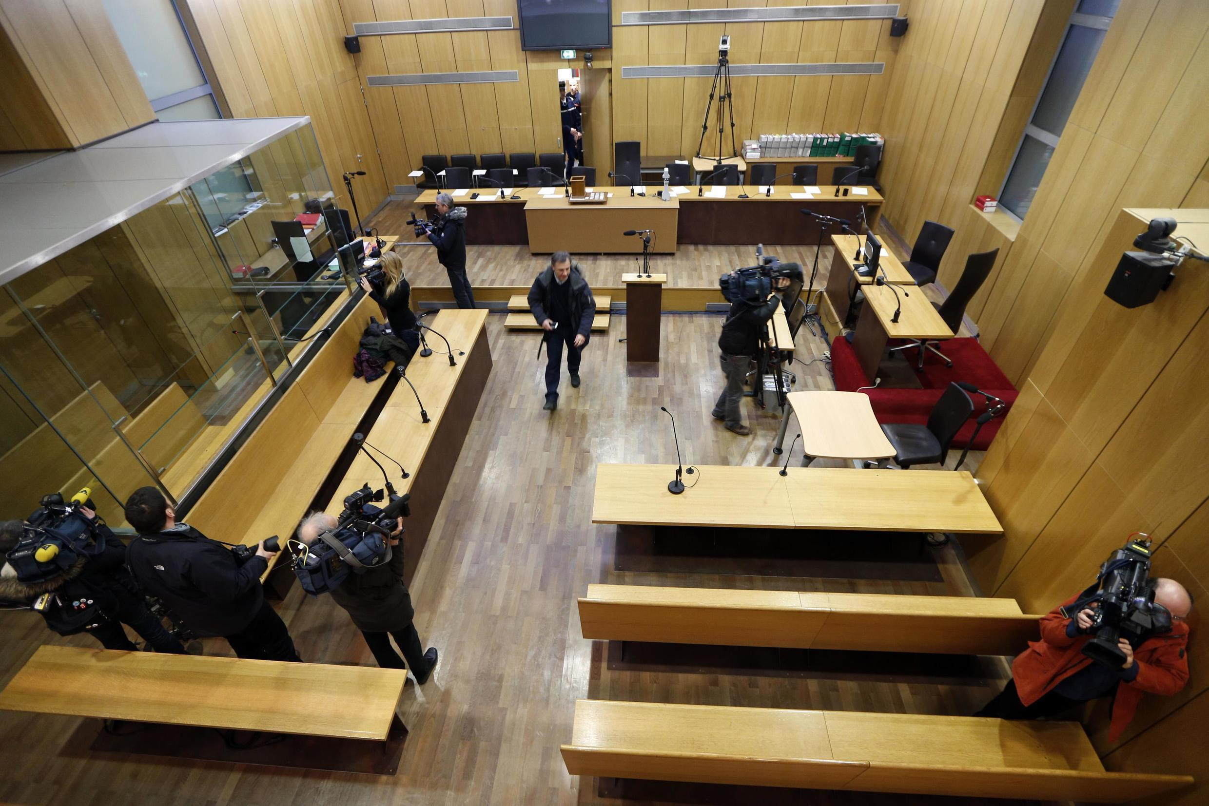 The courtroom where the trial of former Rwandan army captain Pascal Simbikangwa takes place