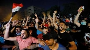 صحنه ای از تظاهرات جوانان عراقی