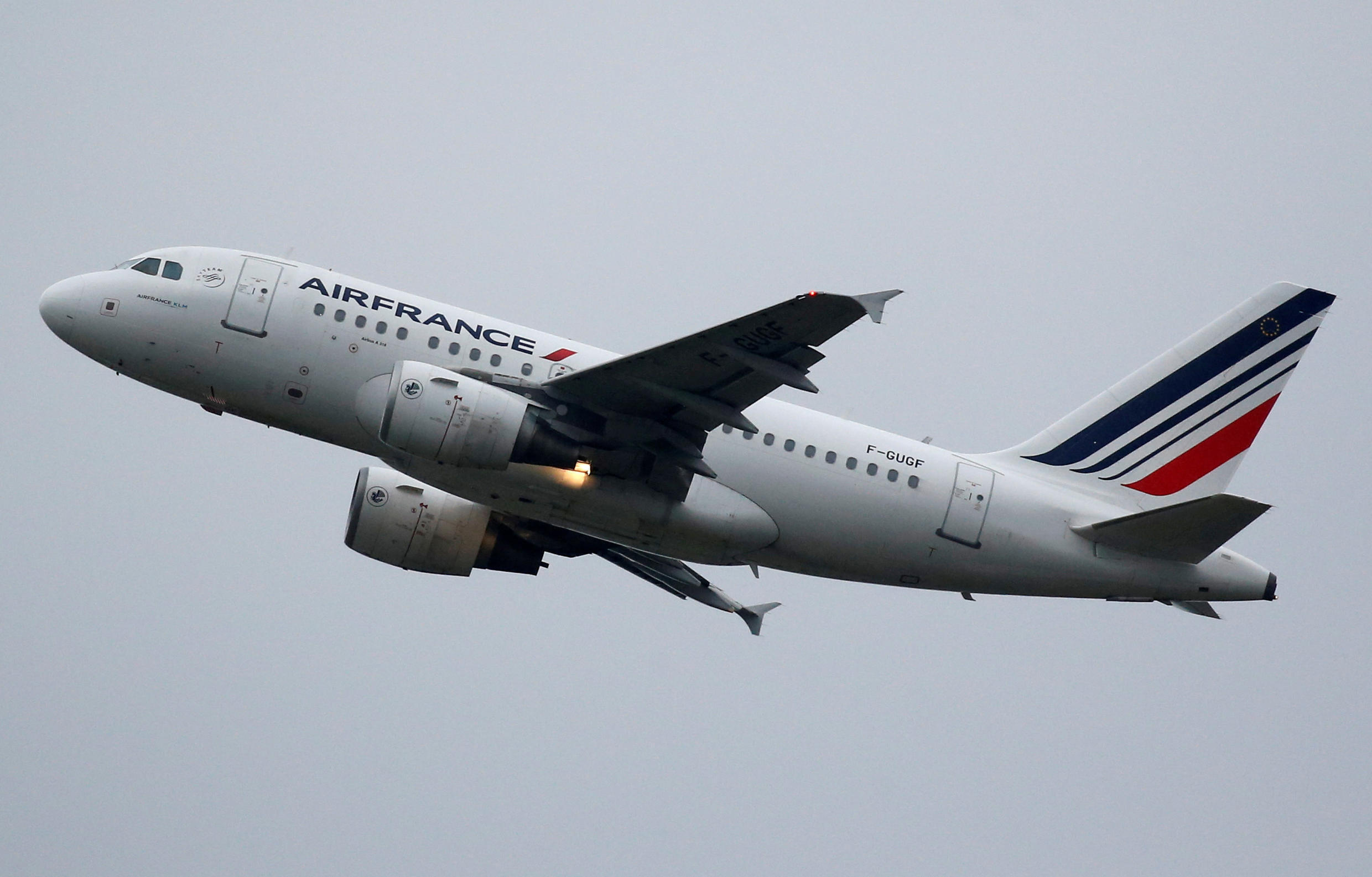 Air France is one of many airlines cancelling some services, but many carriers are operating nearly empty flights to protect their time slots.