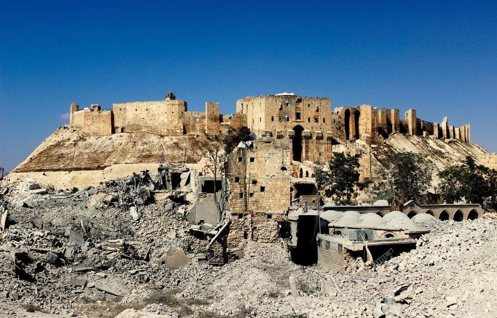 """Imagem da mostra """"A paisagem cultural da Síria – preservar e arquivar em tempos de guerra"""", em cartaz no museu Pergmaon, em Berlim"""