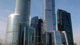 Le centre d'affaires international de la ville de Moscou. Ces dernières années, les Russes partent à cause de l'insécurité personnelle et économique du pays.