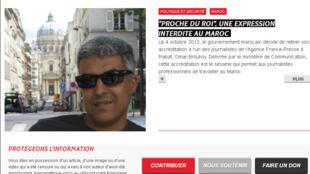 La page d'accueil du site internet, le 30 novembre 2012.