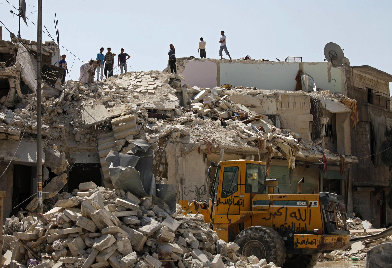 Edificios destruidos en Alepo, este 12 de septiembre de 2012.