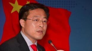 中国外交部新发言人赵力坚会议照