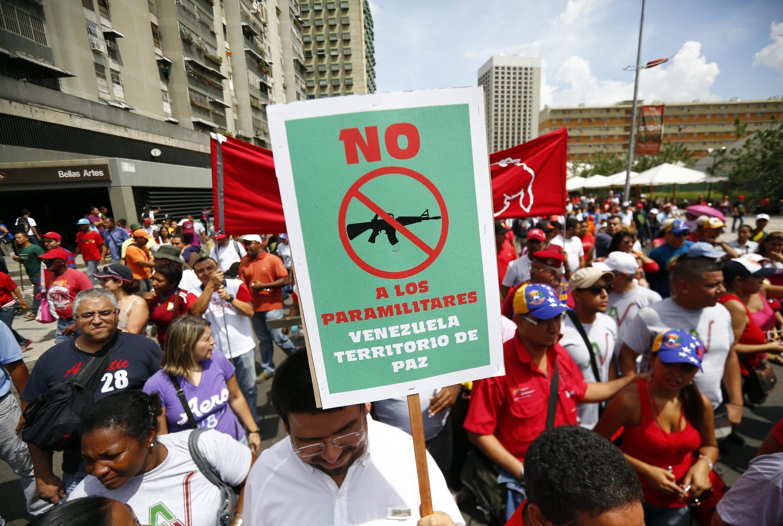 Manifestação em Caracas 18 de outubro de 2014.