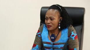 Marie-Ange Mushobekwa, ministre des Droits de l'homme de la RD Congo.
