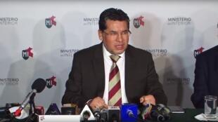 El viceministro de Orden Interno de Perú, Rubén Vargas, durante la conferencia de prensa sobre el escuadrón de la muerte de la polícia.