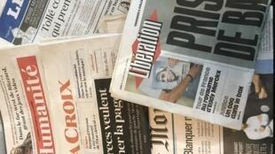 Primeiras páginais jornais franceses de 05/07/2019