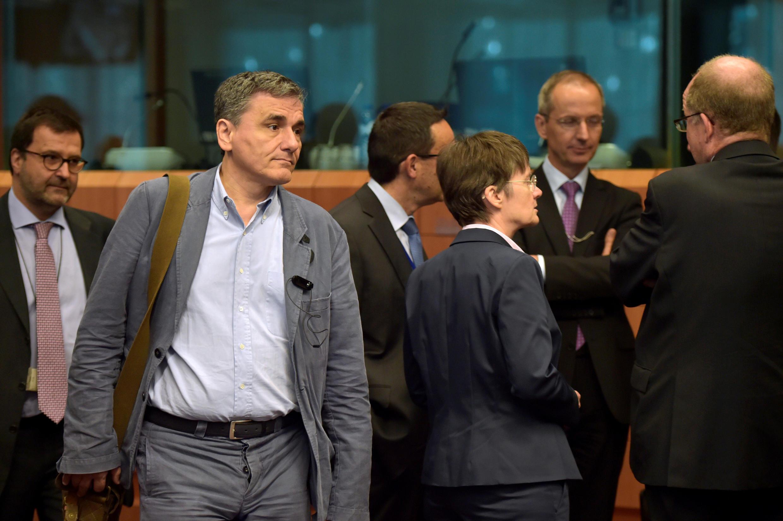 Bộ trưởng Tài chính Hy Lạp Euclid Tsakalotos tại Bruxelles ngày 24/05/2016.