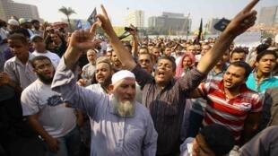 Hàng ngàn người Ai Cập lại biểu tình tại quảng trường Tahrir (AFP)