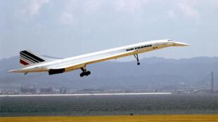 L'avion supersonic franco-britannique, le Concorde, le 5 septembre 1994.