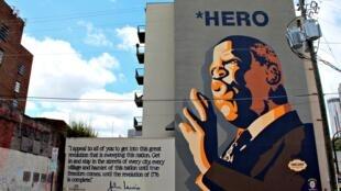 """Dans le quartier de \\\""""Sweet Auburn\\\"""", on honore les grandes figures du mouvement, comme ici John Lewis"""