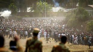 Manifestation de la minorité Oromo en Ethiopie, le 2 octobre 2016.