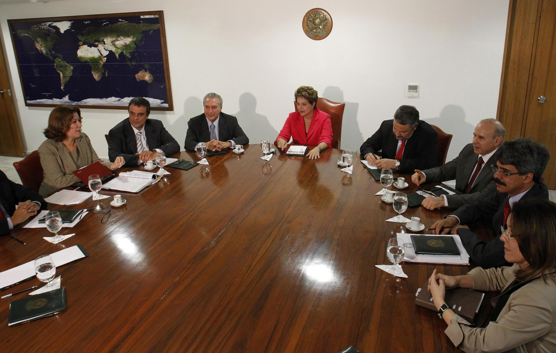 Presidenta Dilma Rousseff durante reunião de coordenação no Palácio do Planalto