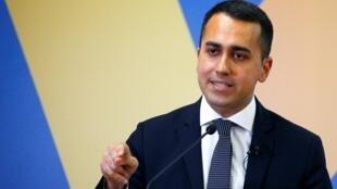 Le leader du Mouvement 5 étoiles et vice-Premier ministre italien, Luigi di Maio.
