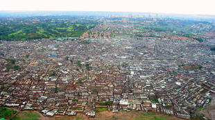 The Kibera slum in Nairobi, Kenya