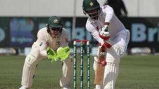 Mohammad Hafeez scored a hundred against Australia in the first Test match in Dubai.
